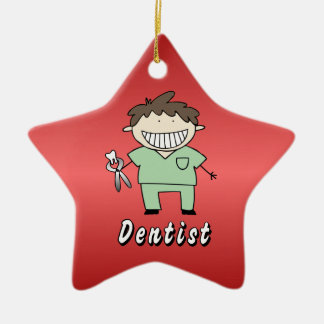 Occupation Dentist Professional Male Personalized Ceramic Star Decoration