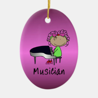 Occupation Musician Professional Female Custom Ceramic Oval Decoration
