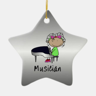 Occupation Musician Professional Female Custom Christmas Ornament