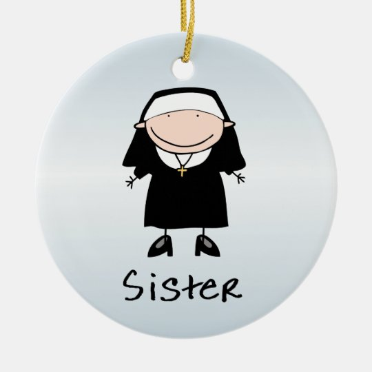 Occupation Nun Religious Vocation Personalised Christmas Ornament