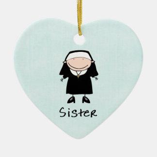 Occupation Nun Religious Vocation  Personalized Ceramic Heart Decoration