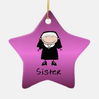 Occupation Nun Religious Vocation  Personalized Christmas Ornament