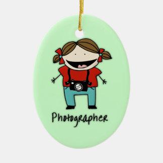 Occupation Photographer Female Personalized Custom Christmas Ornament