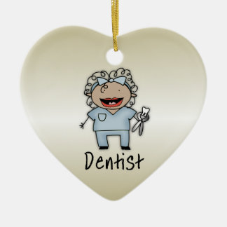 Occupation Woman Dentist Professional Personalized Ceramic Heart Decoration