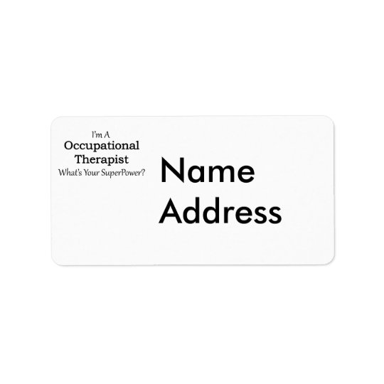 Occupational Therapist Address Label