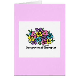 Occupational Therapist Blooms 1 Greeting Card