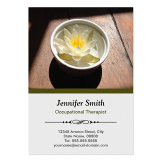 Occupational Therapist Chic Water Lily Appointment Pack Of Chubby Business Cards