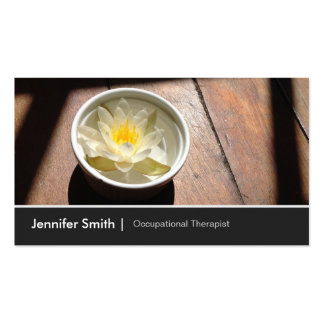 Occupational Therapist Chic Water Lily Appointment Pack Of Standard Business Cards