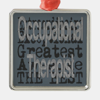 Occupational Therapist Extraordinaire Silver-Colored Square Decoration