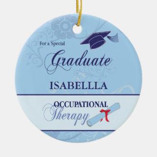 Occupational Therapist Graduation Swirl Round Gift Round Ceramic Decoration