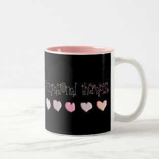 Occupational therapist HEARTS Design Two-Tone Mug