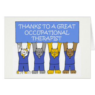 Occupational therapist thanks. greeting card