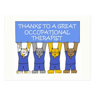Occupational therapist thanks. postcard