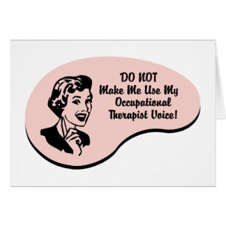 Occupational Therapist Voice Cards