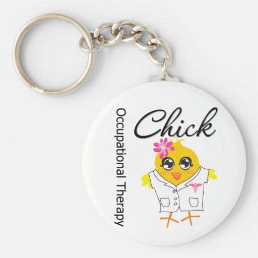 Occupational Therapy Chick Keychain
