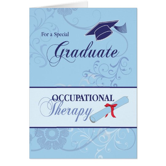 Occupational Therapy Graduation Congratulations, B Card