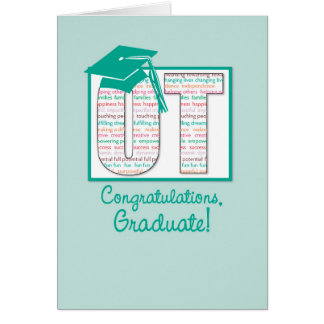 Occupational Therapy Graduation Congratulations, O Greeting Card