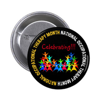 Occupational Therapy Month Button Stickpeople