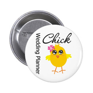 Occupations Chick Wedding Planner 6 Cm Round Badge