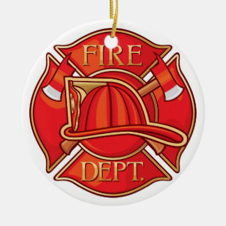 Occupations - Fire Fighter - SRF Round Ceramic Decoration