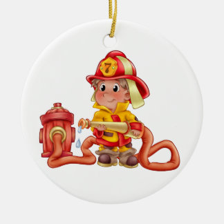 Occupations - Fire Fighter - SRF Round Ceramic Decoration
