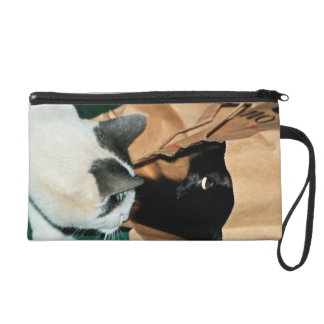 Occupied, Go Away! Funny Cats Wristlet Clutch