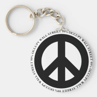 Occupy-11 Basic Round Button Key Ring