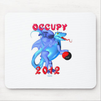 Occupy 2012 - occupy movement water dragon mouse pad