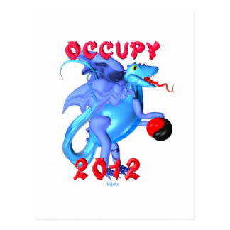 Occupy 2012 - occupy movement water dragon postcard