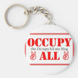 Occupy All blog Basic Round Button Key Ring