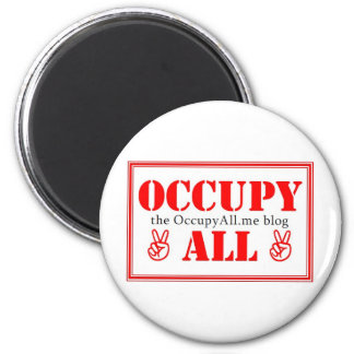 Occupy All blog 6 Cm Round Magnet