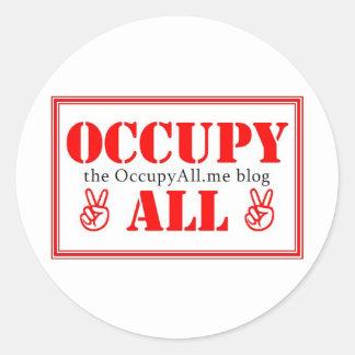 Occupy All blog Round Sticker
