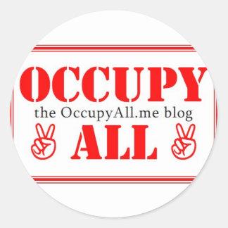 Occupy All blog Classic Round Sticker