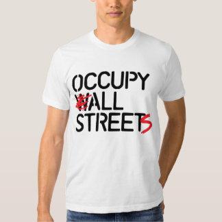 Occupy All Streets - Black Tshirts
