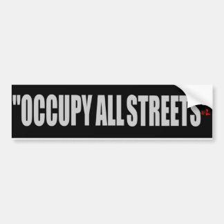 OCCUPY ALL STREETS CAR BUMPER STICKER