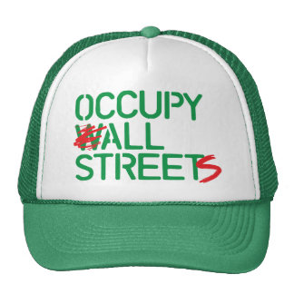 Occupy All Streets - Green Mesh Hat
