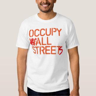 Occupy All Streets - Orange Tshirt