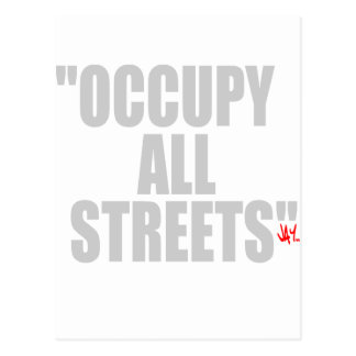 OCCUPY ALL STREETS POSTCARDS