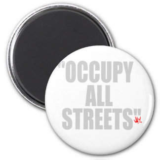OCCUPY ALL STREETS REFRIGERATOR MAGNETS
