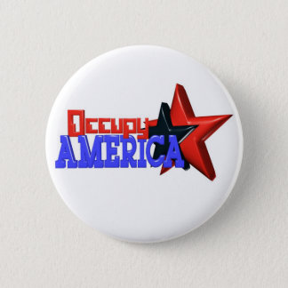 Occupy America protest 99 percent strong 6 Cm Round Badge