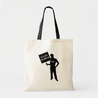 Occupy Atlanta Sign Budget Tote Bag