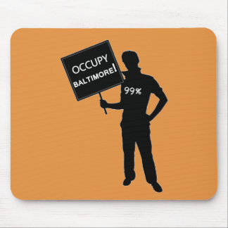 Occupy Baltimore Sign Mouse Pad