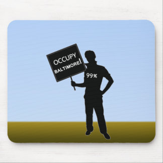 Occupy Baltimore Sign Mouse Pads