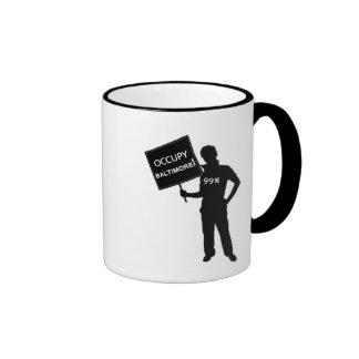 Occupy Baltimore Sign Coffee Mugs