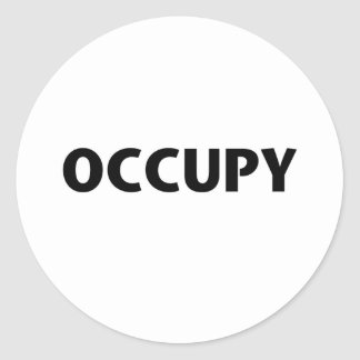 Occupy (Black on White) Classic Round Sticker
