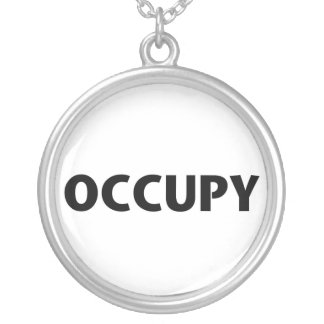 Occupy (Black on White) Custom Necklace