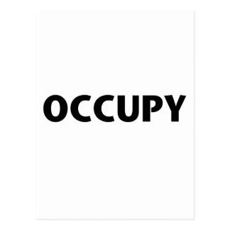 Occupy (Black on White) Postcard