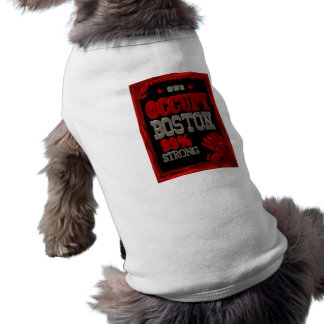 Occupy Boston OWS protest 99 percent strong poster Dog Clothing
