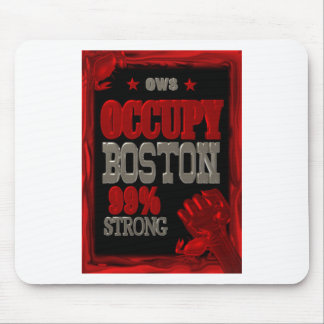 Occupy Boston OWS protest 99 percent strong poster Mouse Pad