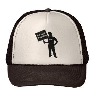Occupy Boston Sign Trucker Hats